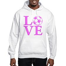 pink2, Soccer LOVE Hoodie