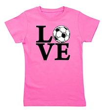 black, Soccer LOVE Girl's Tee