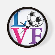 Multi2, Soccer LOVE Wall Clock