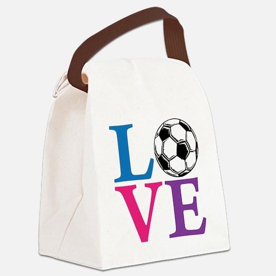Multi2, Soccer LOVE Canvas Lunch Bag