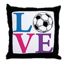 Multi2, Soccer LOVE Throw Pillow