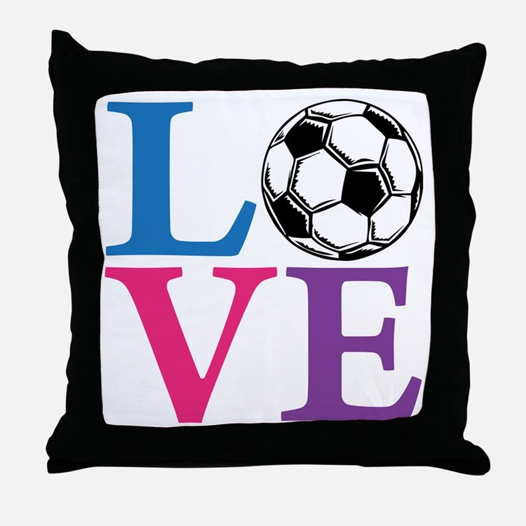 Multi2, Soccer LOVE Throw Pillow