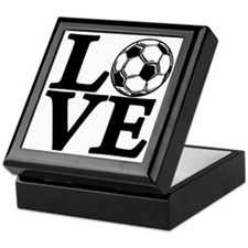 black, Soccer LOVE Keepsake Box