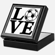 black, Soccer LOVE Keepsake Box