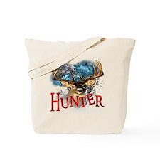 Hunter take your best shot Deer white tex Tote Bag
