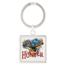Hunter take your best shot Deer wh Square Keychain