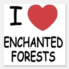"""ENCHANTED_FORESTS Square Car Magnet 3"""" x 3"""""""