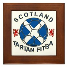 Tartan Football Scotland Saltire Framed Tile