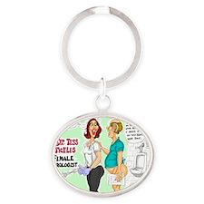 Tess Tickles Oval Keychain