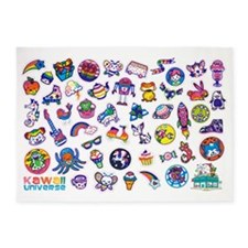 Kawaii Sticker Design Studio Banner 5'x7'Area Rug
