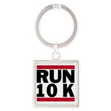 Run 10K_light Square Keychain