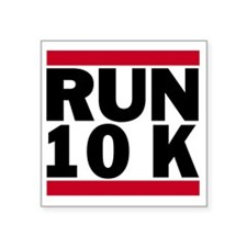 "Run 10K_light Square Sticker 3"" x 3"""