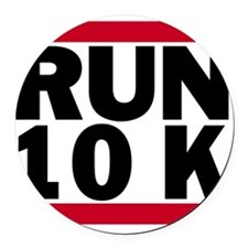 Run 10K_light Round Car Magnet