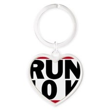 Run 10K_light Heart Keychain