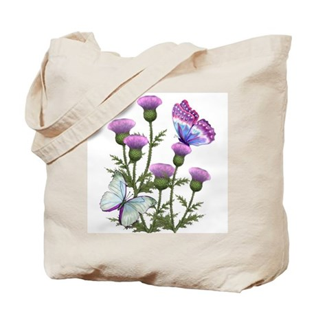 Thistles and Butterflies Tote Bag