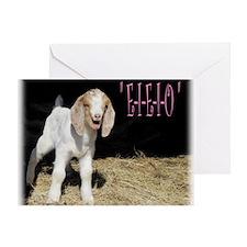 E-I-E-I-O pink Greeting Card