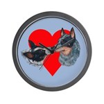 Australian Cattle Dog Kiss Wall Clock