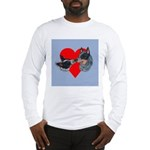 Australian Cattle Dog Kiss Long Sleeve T-Shirt