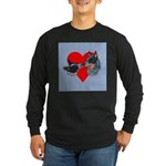 Australian Cattle Dog Kiss Long Sleeve Dark T-Shir