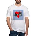 Australian Cattle Dog Kiss Fitted T-Shirt
