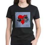Australian Cattle Dog Kiss Women's Dark T-Shirt