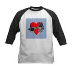 Australian Cattle Dog Kiss Kids Baseball Jersey