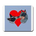 Australian Cattle Dog Kiss Mousepad