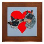Australian Cattle Dog Kiss Framed Tile