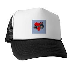 Australian Cattle Dog Kiss Trucker Hat