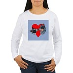 Australian Cattle Dog Kiss Women's Long Sleeve T-S