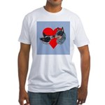 Australian Cattle Dog Kiss Fitted T-Shirt