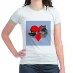 Australian Cattle Dog Kiss Jr. Ringer T-Shirt