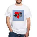 Australian Cattle Dog Kiss White T-Shirt