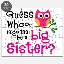 Pink Owl PNG Puzzle