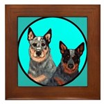 Australian Cattle Dog Pair Framed Tile