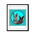 Australian Cattle Dog Pair Framed Panel Print