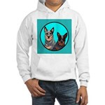 Australian Cattle Dog Pair Hooded Sweatshirt