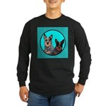 Australian Cattle Dog Pair Long Sleeve Dark T-Shi