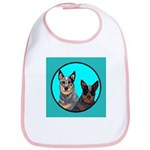 Australian Cattle Dog Pair Bib