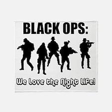 Art_Black Ops Night Life1 Throw Blanket