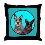 Australian Cattle Dog Pair Throw Pillow