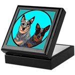 Australian Cattle Dog Pair Keepsake Box