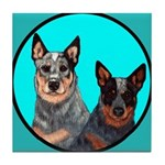 Australian Cattle Dog Pair Tile Coaster