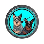 Australian Cattle Dog Pair Wall Clock