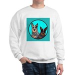 Australian Cattle Dog Pair Sweatshirt