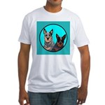 Australian Cattle Dog Pair Fitted T-Shirt