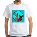 Australian Cattle Dog Pair White T-Shirt