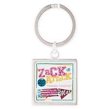 Zack_Attack_Shirt Square Keychain