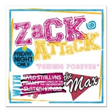 """Zack_Attack_Shirt Square Car Magnet 3"""" x 3"""""""