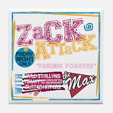 Zack_Attack_Shirt Tile Coaster